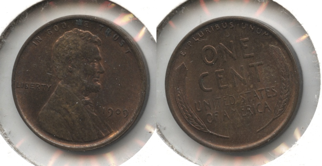 1909 Lincoln Cent MS-63 Red Brown #q