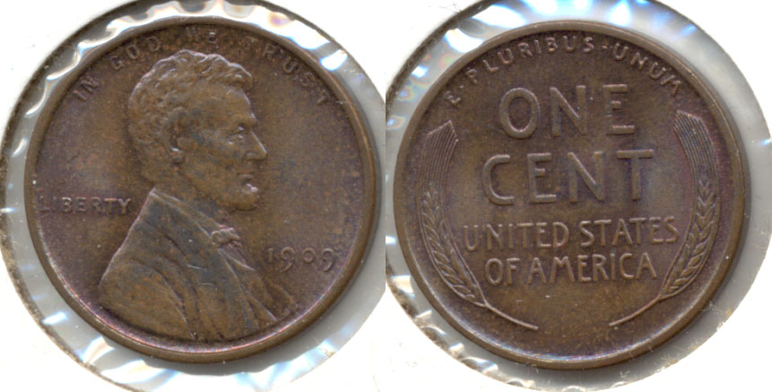1909 Lincoln Cent MS-64 Brown a