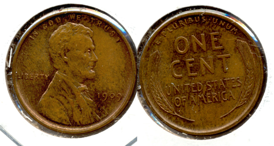 1909 Lincoln Cent MS-64 Brown b