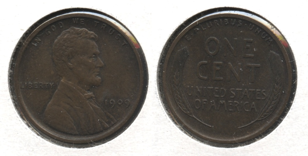 1909 Lincoln Cent MS-64 Brown #d