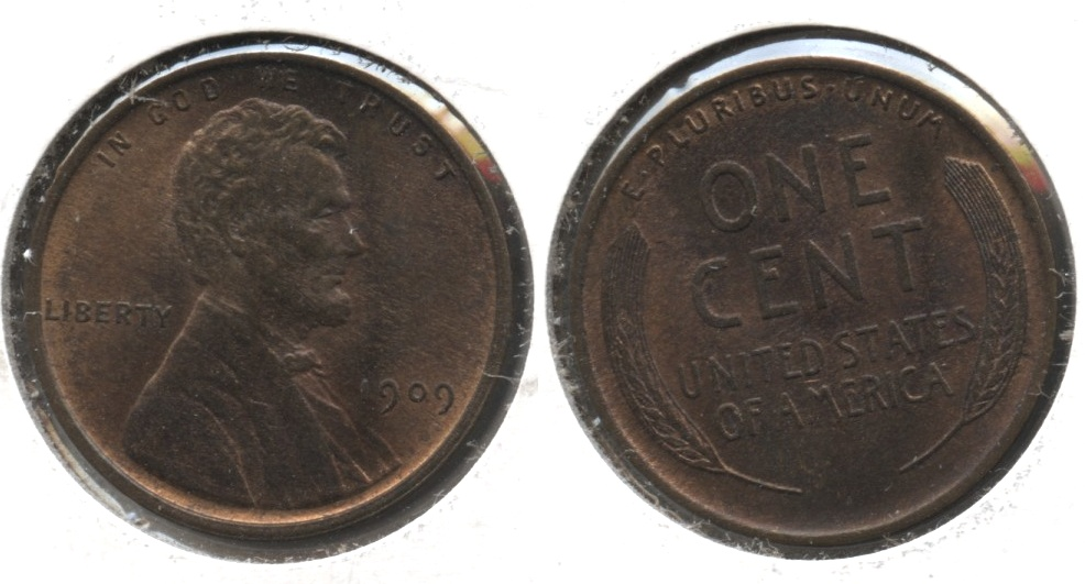 1909 Lincoln Cent MS-64 Red Brown #e