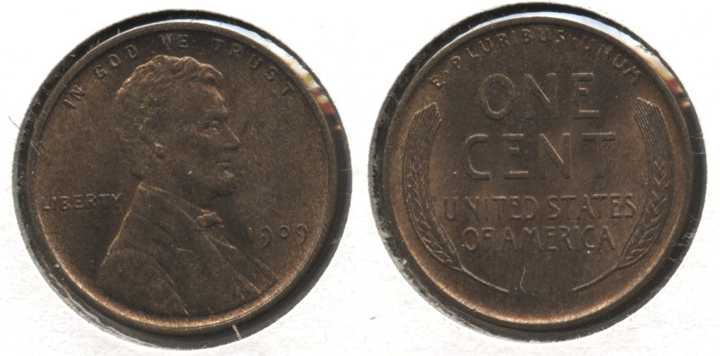 1909 Lincoln Cent MS-64 Red Brown #f
