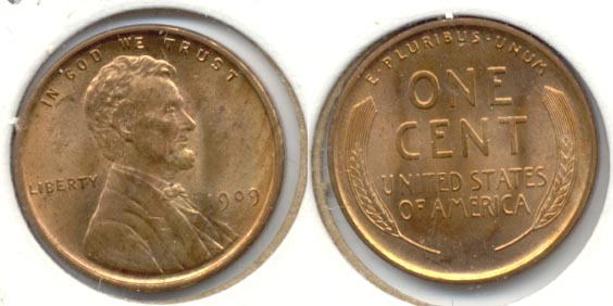 1909 Lincoln Cent MS-64 Red