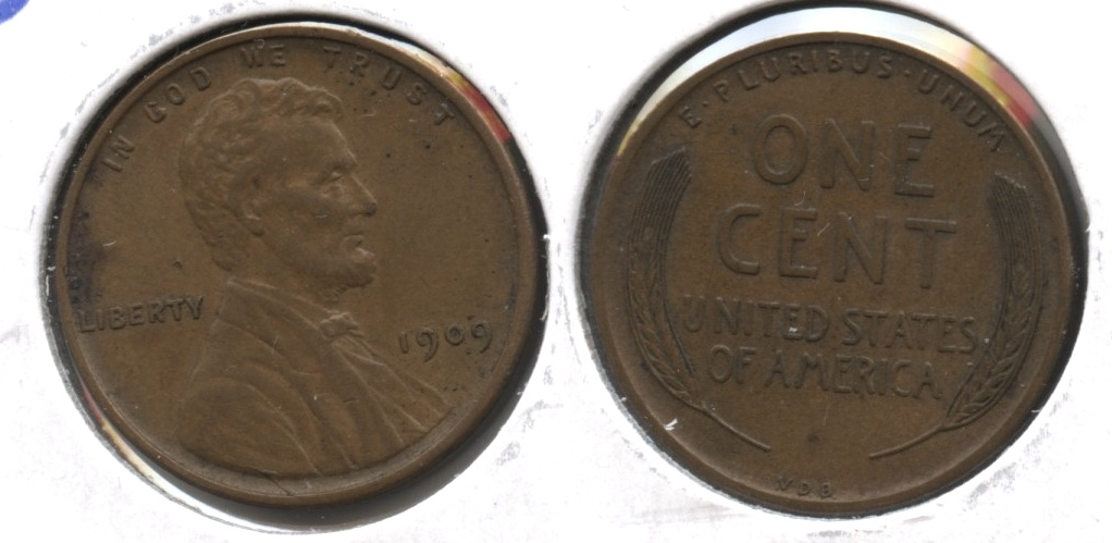 1909 VDB Lincoln Cent EF-40 #ac