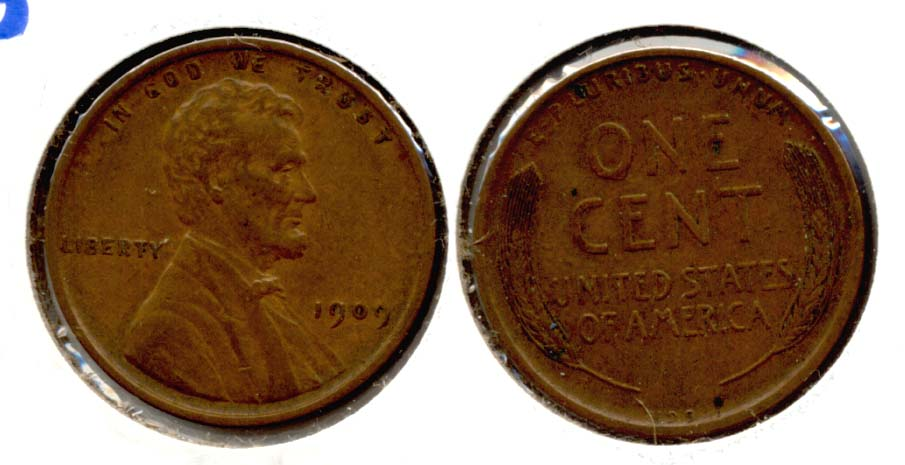1909 VDB Lincoln Cent EF-40 n