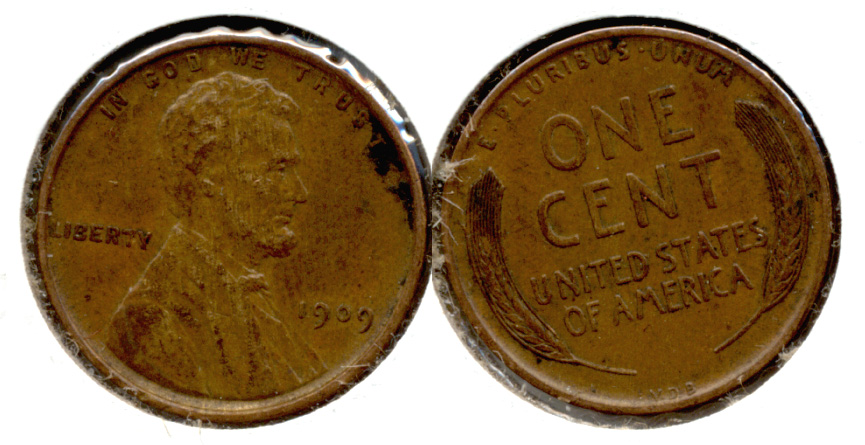 1909 VDB Lincoln Cent EF-40 q