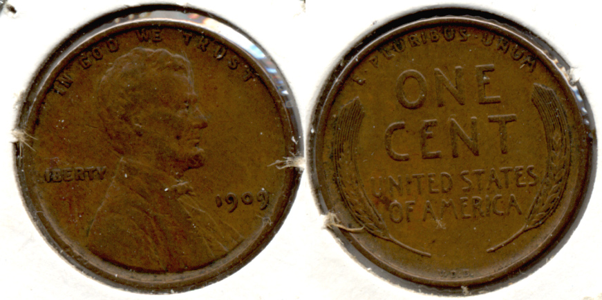1909 VDB Lincoln Cent EF-40 t