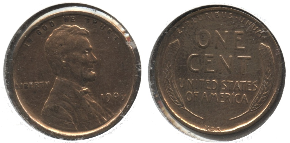 1909 VDB Lincoln Cent EF-40 #z Cleaned