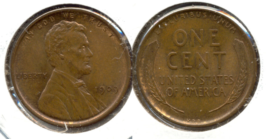 1909 VDB Lincoln Cent MS-63 Brown e