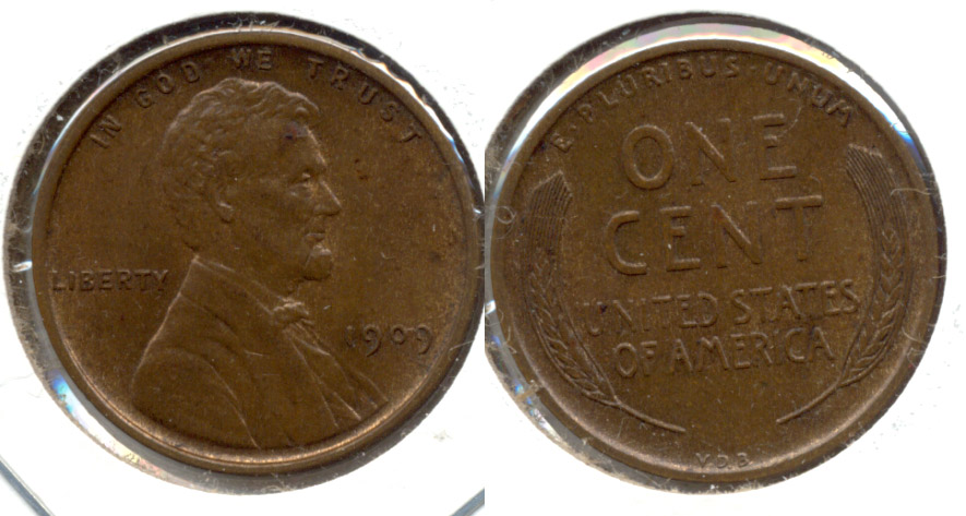 1909 VDB Lincoln Cent MS-63 Brown h