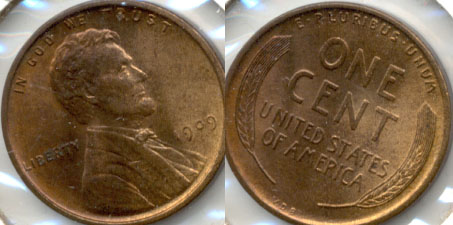1909 VDB Lincoln Cent MS-63 Red Brown p