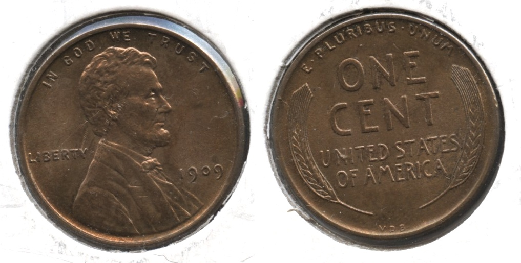 1909 VDB Lincoln Cent MS-63 Red Brown #y