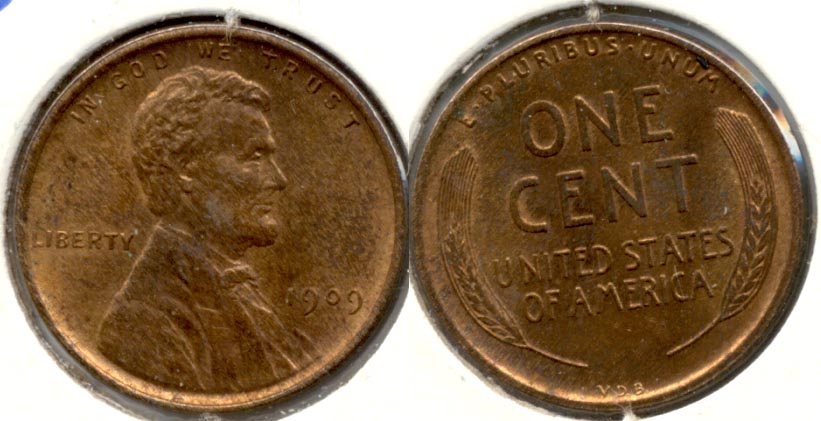 1909 VDB Lincoln Cent MS-64 Red Brown i