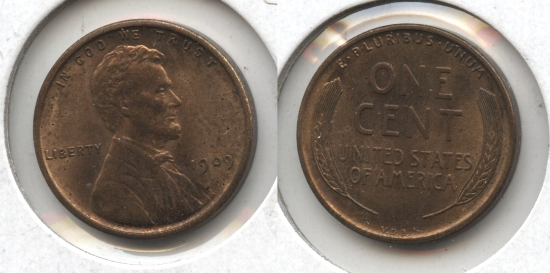 1909 VDB Lincoln Cent MS-64 Red Brown #o