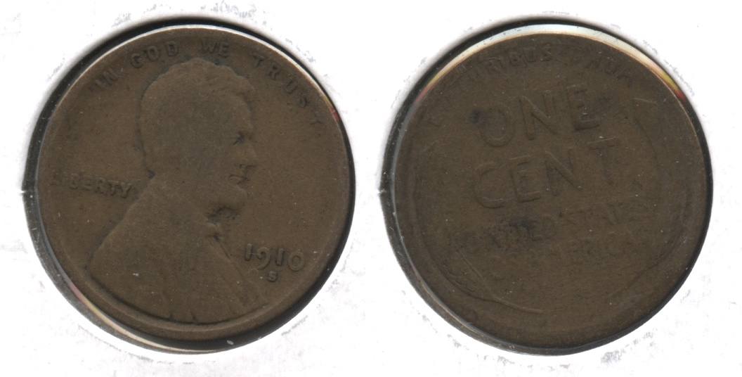 1910-S Lincoln Cent Good-4 #f