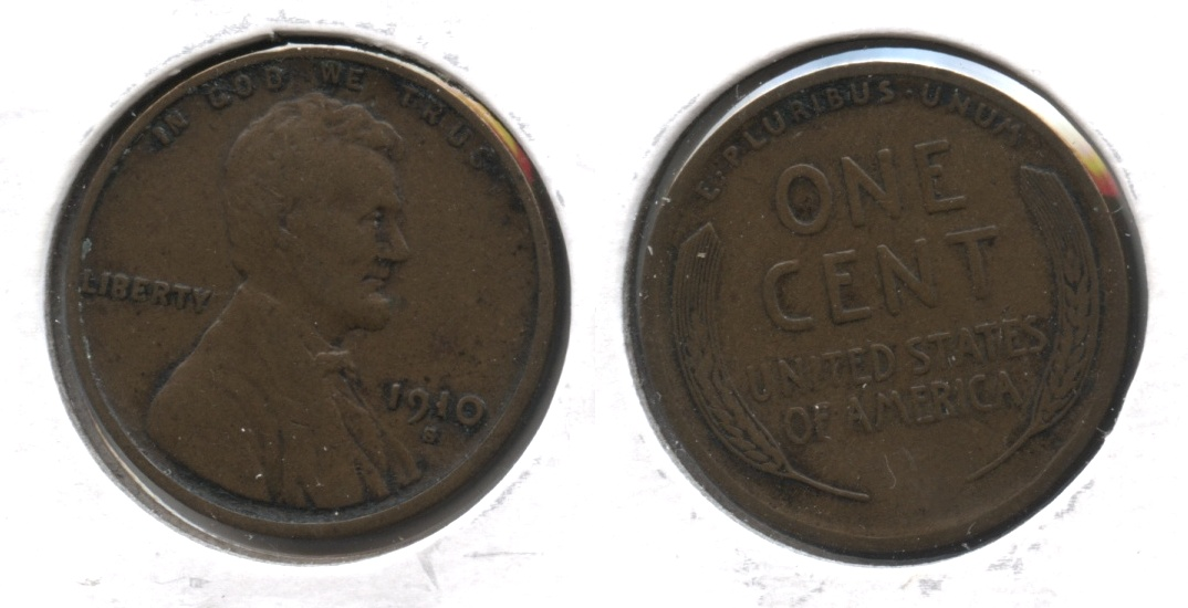 1910-S Lincoln Cent VF-20 #h