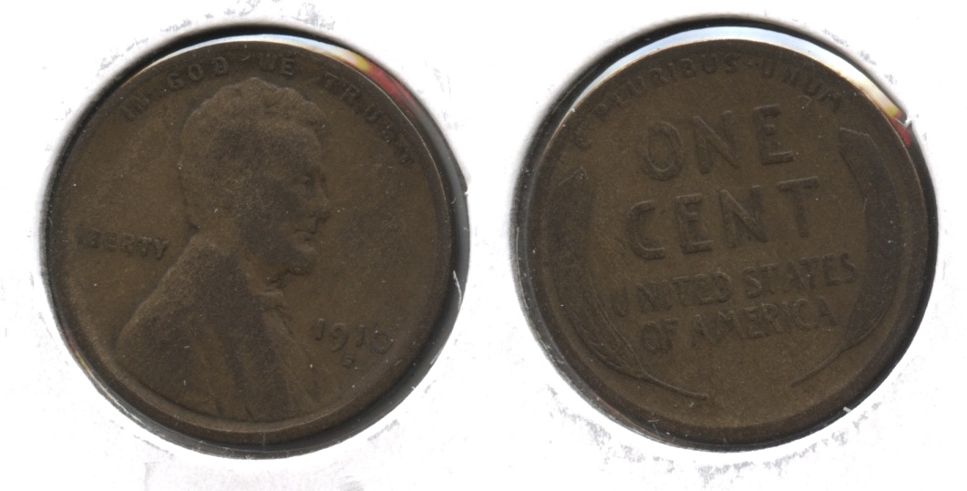 1910-S Lincoln Cent VG-8 #aa