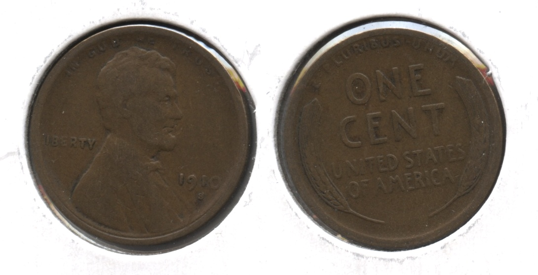 1910-S Lincoln Cent VG-8 #ab