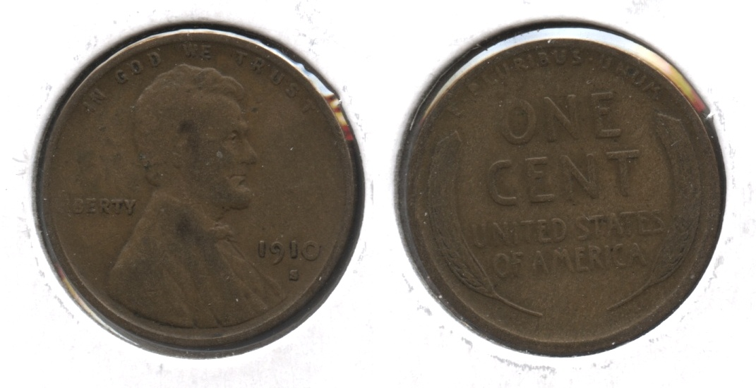 1910-S Lincoln Cent VG-8 #p