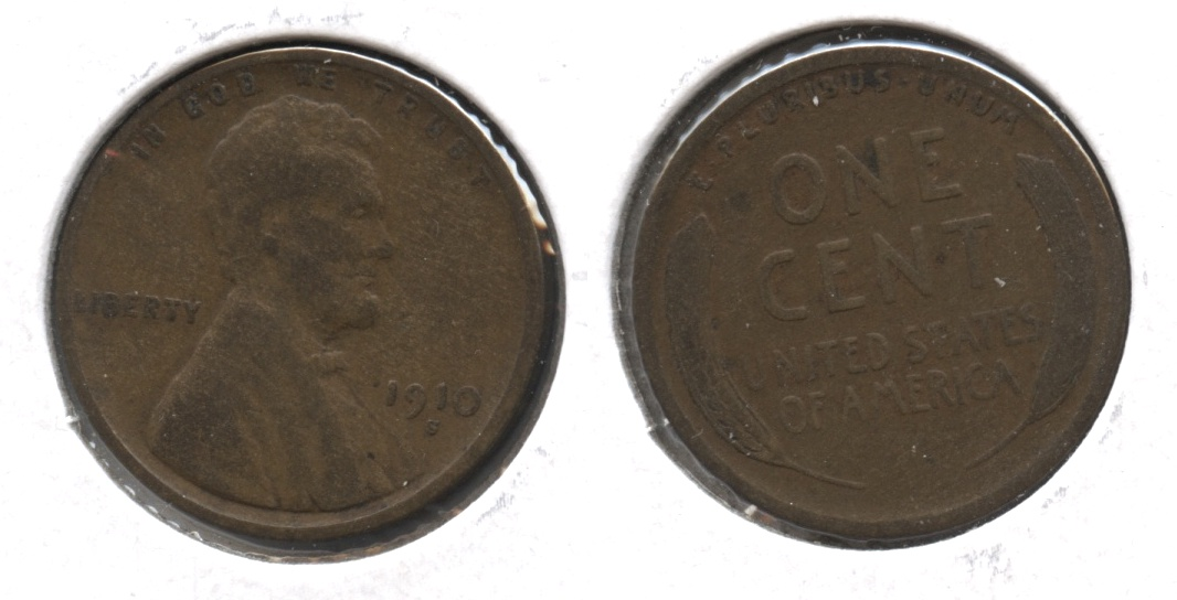 1910-S Lincoln Cent VG-8 #t