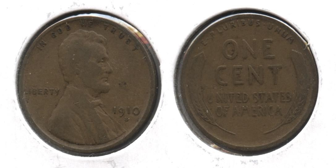 1910-S Lincoln Cent VG-8 #z