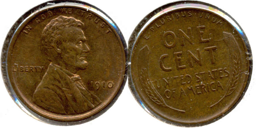 1910 Lincoln Cent MS-63 Brown g