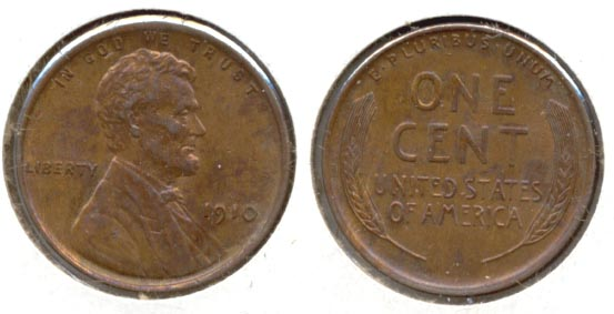 1910 Lincoln Cent MS-63 Red Brown