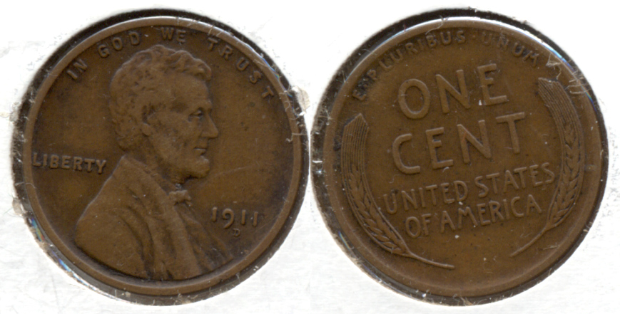 1911-D Lincoln Cent EF-40 b