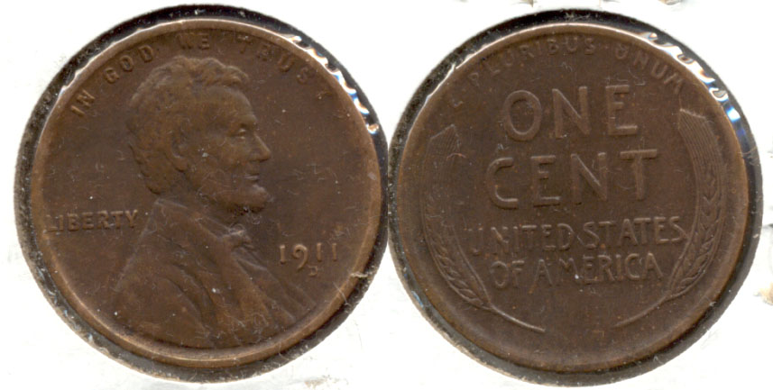 1911-D Lincoln Cent VF-20