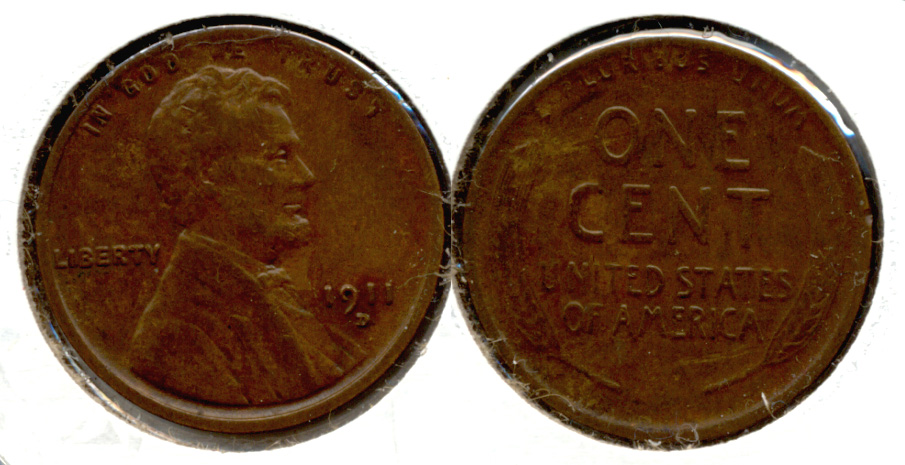 1911-D Lincoln Cent VF-30