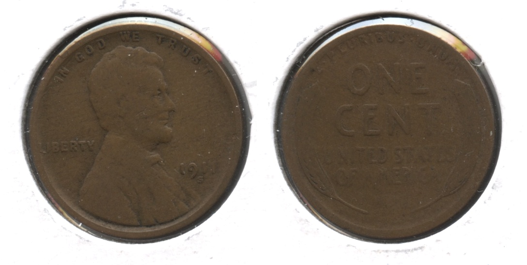 1911-S Lincoln Cent Good-4 #n