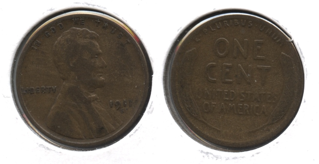 1911-S Lincoln Cent Good-4 #q