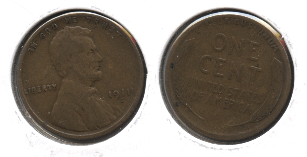 1911-S Lincoln Cent VG-8 #o