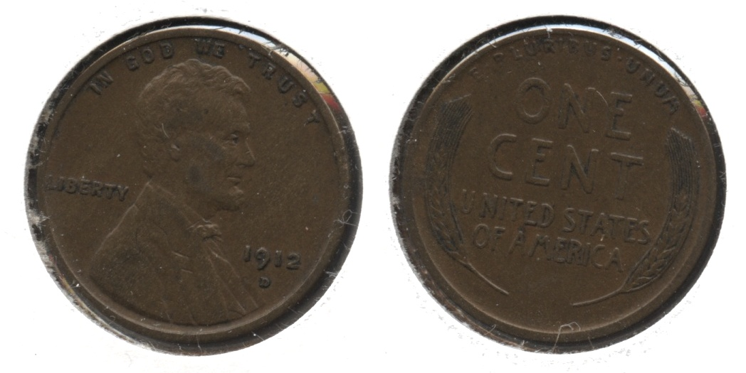 1912-D Lincoln Cent EF-40 #c