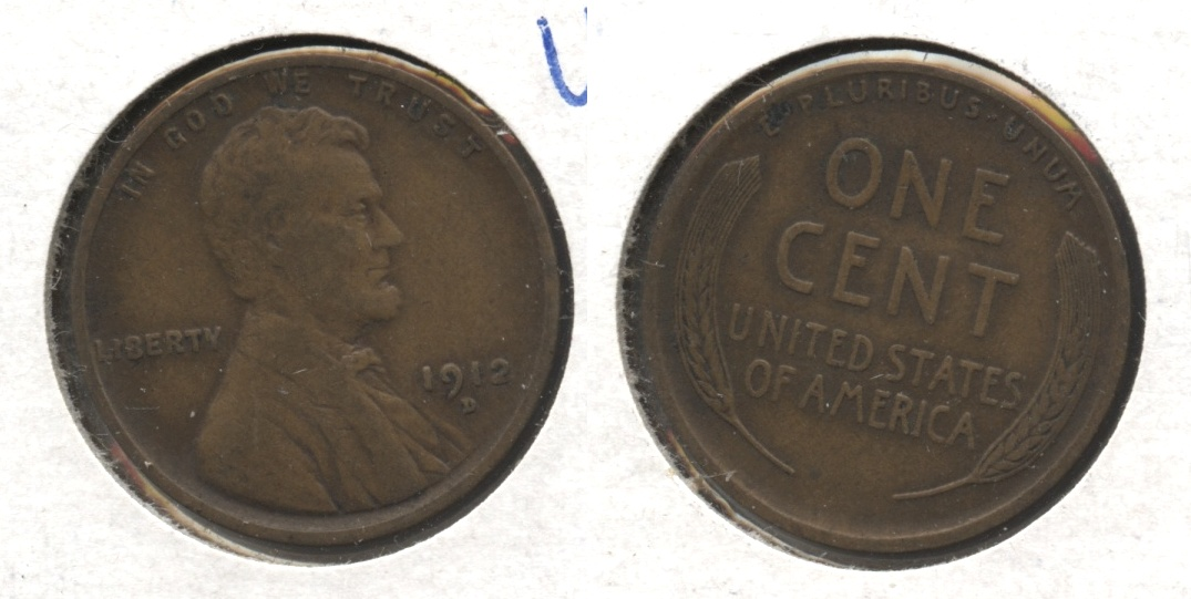 1912-D Lincoln Cent VF-20