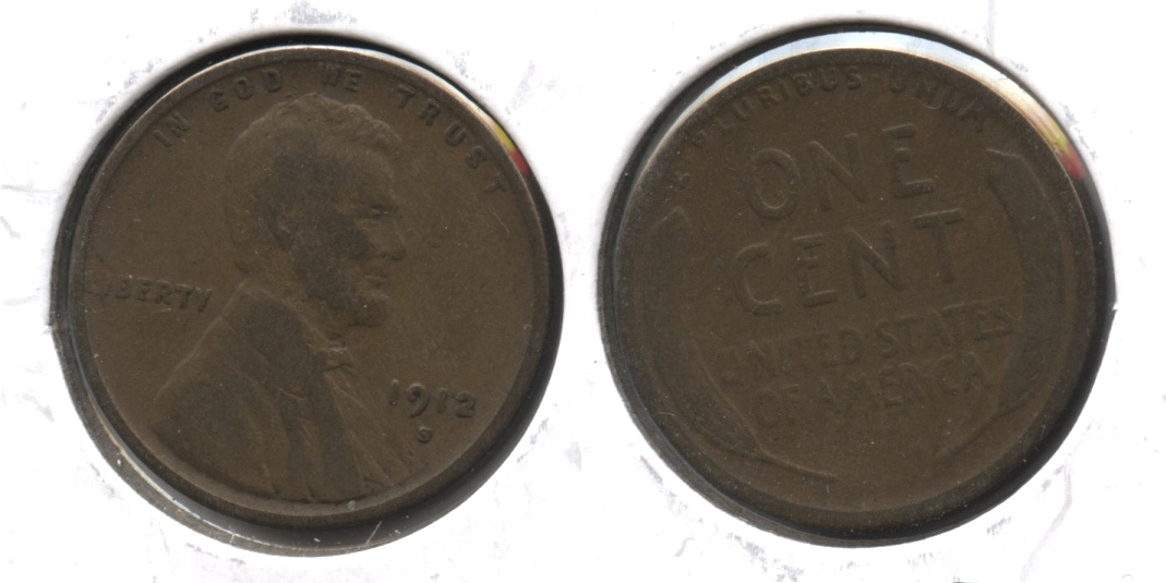 1912-S Lincoln Cent Good-4 #c