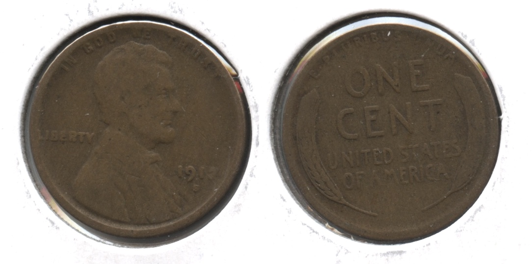 1912-S Lincoln Cent Good-4 #e