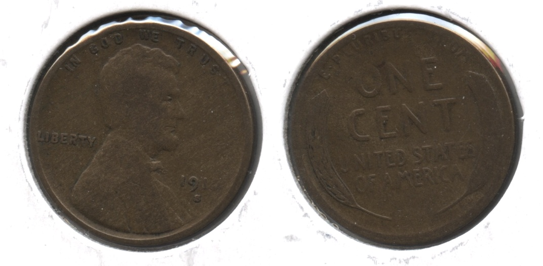 1912-S Lincoln Cent Good-4 #f