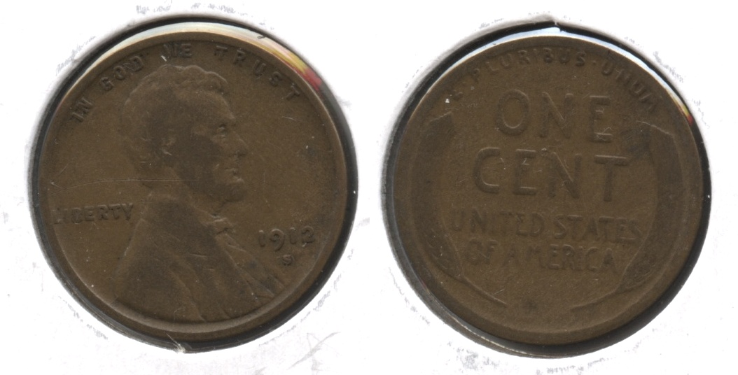 1912-S Lincoln Cent Good-4 #l