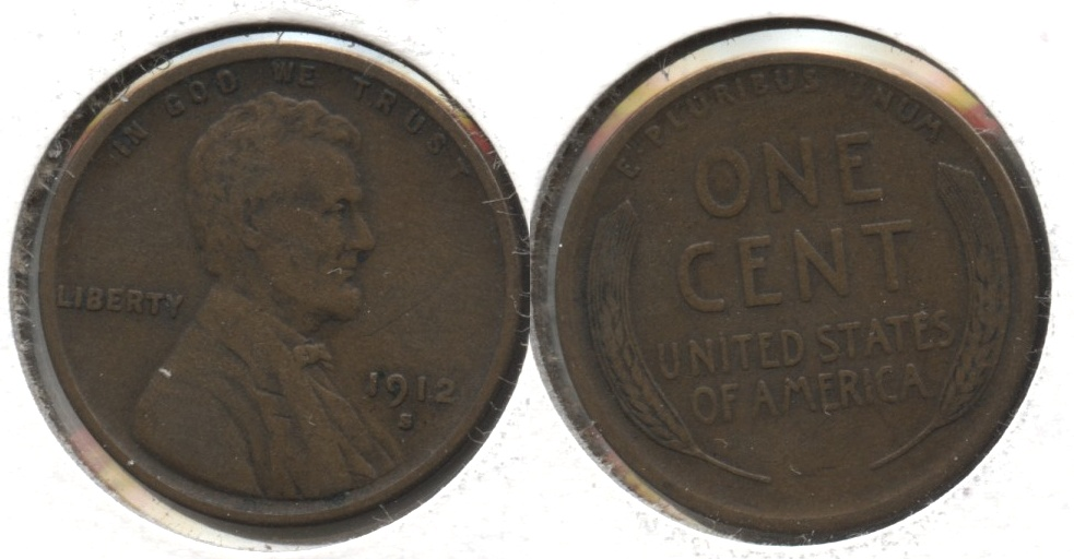1912-S Lincoln Cent VF-20 #a