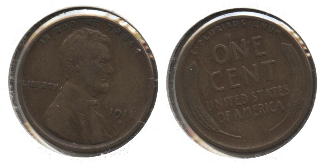 1912-S Lincoln Cent VF-20 #c