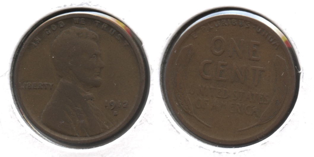1912-S Lincoln Cent VG-8 #d