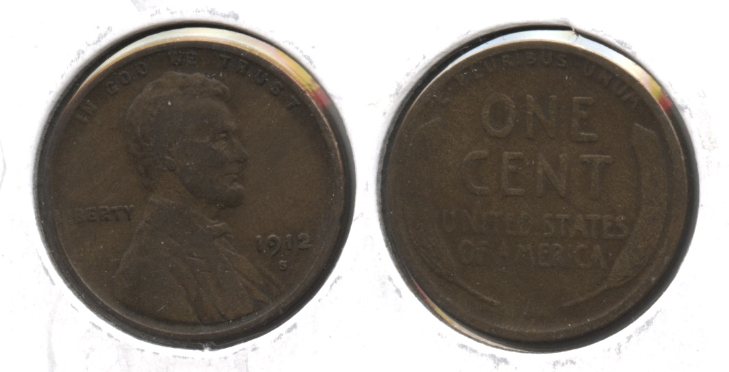 1912-S Lincoln Cent VG-8 #h
