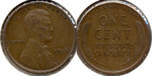 1912 Lincoln Cent EF-40