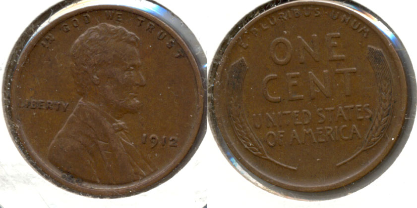 1912 Lincoln Cent EF-45 c