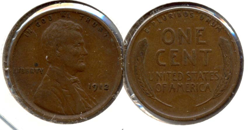 1912 Lincoln Cent EF-45 d