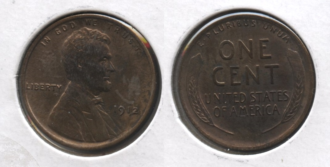 1912 Lincoln Cent MS-60 Brown