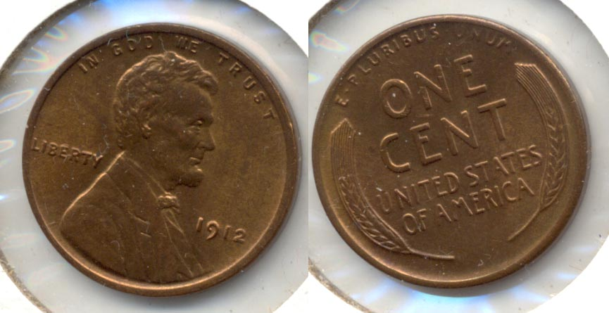 1912 Lincoln Cent MS-63 Red Brown