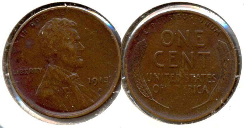 1913-S Lincoln Cent EF-40