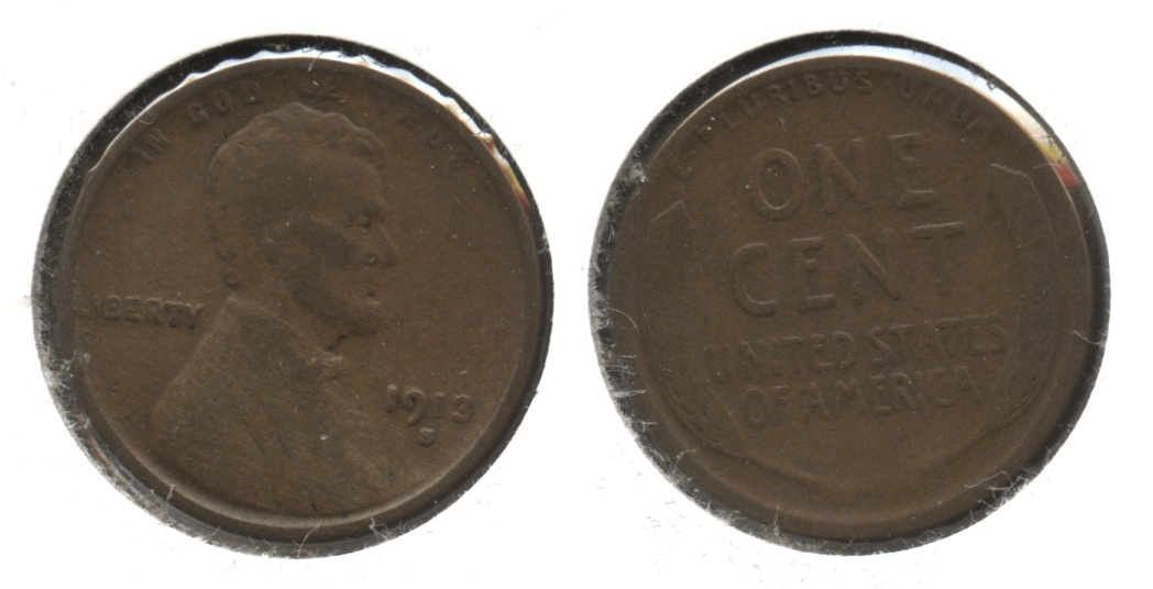 1913-S Lincoln Cent Good-4